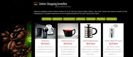 kaffeekunst.de shopping