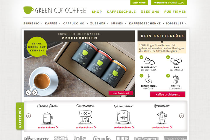 green cup coffee de